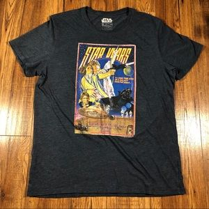 Star Wars Heathered blue graphic T-shirt XL